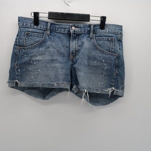 Old Navy Low Rise Cut Off Jean Shorts Stained